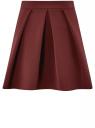Юбка расклешенная со встречными складками oodji #SECTION_NAME# (красный), 11600396-1B/42250/4901N