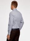 Рубашка приталенная из хлопка oodji #SECTION_NAME# (синий), 3L110300M/19370N/1079G - вид 3