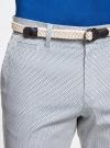 Шорты хлопковые с плетеным ремнем oodji #SECTION_NAME# (белый), 2L600011M/39344N/1074G - вид 4