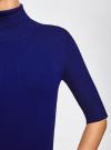 Платье вязаное с вырезом-капелькой на спине oodji #SECTION_NAME# (синий), 63912225/46999/7500N - вид 5