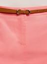 Юбка хлопковая с ремнем oodji #SECTION_NAME# (розовый), 11600397-2B/32887/4100N - вид 4