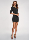 Платье трикотажное облегающего силуэта oodji #SECTION_NAME# (черный), 14001121-4B/46943/2912D - вид 6
