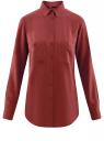 Блузка с нагрудными карманами и регулировкой длины рукава oodji #SECTION_NAME# (красный), 11400355-8B/48458/4900N