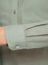 Рубашка хлопковая свободного силуэта oodji #SECTION_NAME# (зеленый), 11411101B/45561/6000N - вид 5