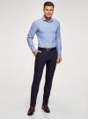Рубашка принтованная приталенного силуэта oodji #SECTION_NAME# (синий), 3L310141M/46212N/7010E - вид 6