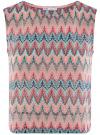 Топ из фактурной ткани с этническим узором oodji для женщины (розовый), 15F05004/45509/6555E