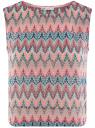 Топ из фактурной ткани с этническим узором oodji #SECTION_NAME# (розовый), 15F05004/45509/6555E