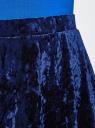 Юбка бархатная с мягкими складками oodji для женщины (синий), 14102007/47508/7500N
