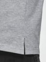 Футболка хлопковая с разрезами по бокам oodji для мужчины (серый), 5L631000M/47885N/2000M