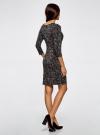 Платье с декоративными молниями принтованное oodji для женщины (черный), 24007024/43121/2912A - вид 3