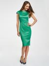 Платье-футляр с вырезом-лодочкой oodji для женщины (зеленый), 11902163-1/32700/6E00N - вид 2