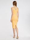 Платье трикотажное на тонких бретелях oodji #SECTION_NAME# (желтый), 14015007-1B/45450/5210S - вид 3