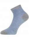 Носки укороченные базовые oodji для женщины (серый), 57102418B/47469/2070S - вид 2