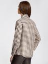Рубашка свободного силуэта с регулировкой длины рукава oodji #SECTION_NAME# (коричневый), 11411099-1/43566/6812C - вид 3