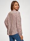 Блузка вискозная с отстрочками на груди oodji #SECTION_NAME# (розовый), 21411121/47075N/4029F - вид 3