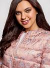 Куртка стеганая с круглым вырезом oodji для женщины (розовый), 10203072B/42257/4B19F - вид 4