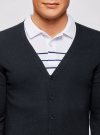 Кардиган базовый на пуговицах oodji #SECTION_NAME# (синий), 4B612001M/39796N/7900N - вид 4