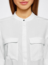 Блузка вискозная с регулировкой длины рукава oodji #SECTION_NAME# (белый), 11403225-2B/26346/1200N - вид 4