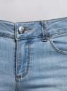 Капри джинсовые с потертостями oodji #SECTION_NAME# (синий), 12105016/45253/7500W - вид 5