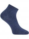 Носки укороченные базовые oodji для женщины (синий), 57102418B/47469/7900M