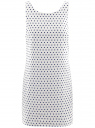 Платье принтованное из хлопка oodji для женщины (белый), 11901149/17298/1075D