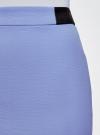 Юбка короткая с отделкой из искусственной кожи oodji #SECTION_NAME# (фиолетовый), 11601179-10/46415/7500N - вид 4