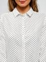 Блузка базовая из вискозы oodji #SECTION_NAME# (белый), 11411136B/26346/1229D - вид 4