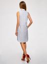 Платье хлопковое на кулиске oodji #SECTION_NAME# (белый), 11901147-4B/45202/1075O - вид 3