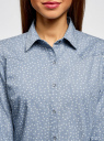 Рубашка джинсовая принтованная oodji #SECTION_NAME# (синий), 16A09003-3/47735/7912G - вид 4