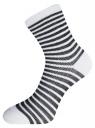 Комплект хлопковых носков в полоску (3 пары) oodji #SECTION_NAME# (разноцветный), 57102813T3/48022/19 - вид 4