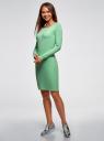 Платье трикотажное облегающего силуэта oodji #SECTION_NAME# (зеленый), 14001183B/46148/6500N - вид 6