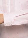 Рубашка приталенная с нагрудными карманами oodji #SECTION_NAME# (розовый), 11403222-4/46440/4010S - вид 5