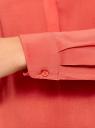 Блузка вискозная прямого силуэта oodji #SECTION_NAME# (красный), 21400394-1B/24681/4300N - вид 5