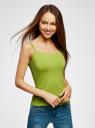 Майка женская (упаковка 2 шт) oodji #SECTION_NAME# (зеленый), 14305023T2/46147/6B00N - вид 2