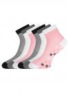 Комплект из шести пар носков oodji для женщины (разноцветный), 57102418-6T6/47469/2 - вид 2