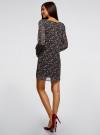 Платье прямого силуэта из струящейся ткани oodji #SECTION_NAME# (черный), 11900150-13/13632/2945E - вид 3