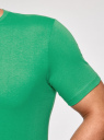 Футболка базовая прямого силуэта oodji #SECTION_NAME# (зеленый), 5B611003M/44135N/6500N - вид 5