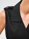 Жилет удлиненный с поясом oodji #SECTION_NAME# (черный), 22305006/46607/2901N - вид 5
