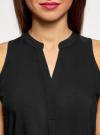 Топ базовый из вискозы oodji для женщины (черный), 14911008-1B/48756/2900N - вид 4