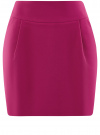 Юбка короткая с карманами oodji #SECTION_NAME# (розовый), 11605056-2B/18600/4700N