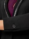 Жакет приталенный с декором на лацканах oodji для женщины (черный), 11202067/43099/2900N