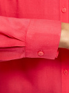 Блузка с нагрудными карманами и регулировкой длины рукава oodji #SECTION_NAME# (розовый), 11400355-3B/14897/4D00N - вид 5