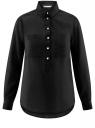 Рубашка хлопковая свободного силуэта oodji #SECTION_NAME# (черный), 11411101B/45561/2900N