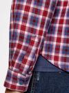 Рубашка в клетку с карманами oodji #SECTION_NAME# (красный), 11400433-1/43223/7445C - вид 5