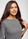 Платье с вырезом-лодочкой и воланом на рукаве oodji для женщины (серый), 14001195-1/46979/2912G