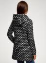 Куртка удлиненная с капюшоном oodji #SECTION_NAME# (черный), 10204058B/42257/2912O - вид 3