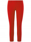 Брюки зауженные с молнией на боку oodji для женщины (красный), 21706022-1/18600/4500N - вид 6