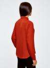 Блузка из струящейся ткани oodji #SECTION_NAME# (красный), 11400368-3/32823/4501N - вид 3