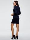 Платье вязаное с рукавом 3/4 oodji #SECTION_NAME# (синий), 63912222-2B/45109/7901N - вид 3