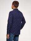 Рубашка хлопковая с нагрудным карманом oodji #SECTION_NAME# (синий), 3L310178M/48974N/7910G - вид 3